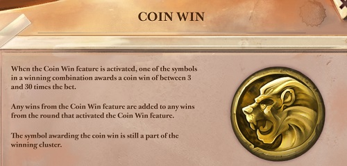 Coin Win feature