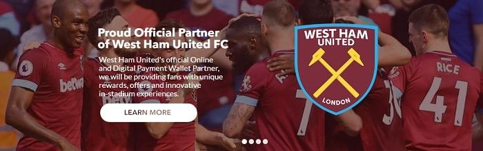 イギリス・プレミアリーグ West Ham United FCのスポンサー